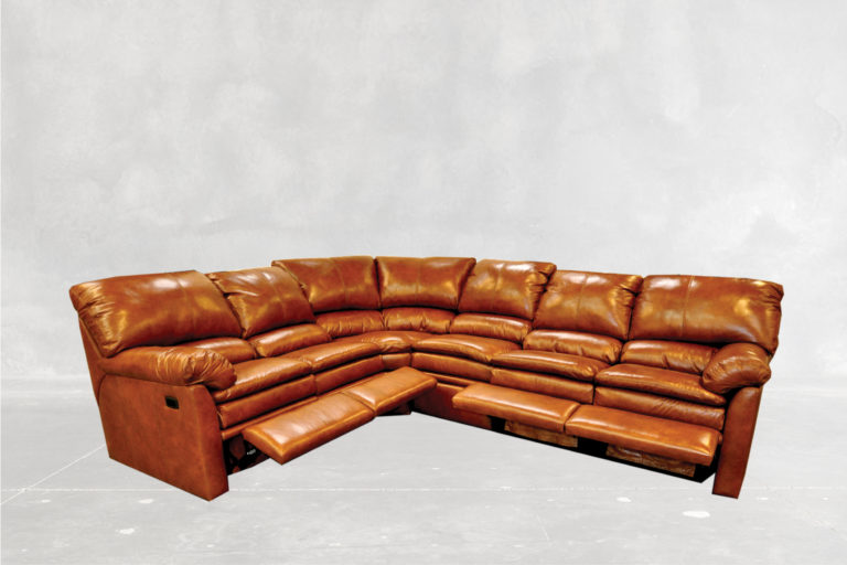 Bellagio All Reclining Sectional Concrete Back Round