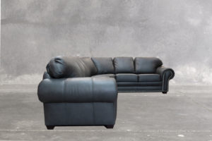 Prescott Sectional Grey Leather
