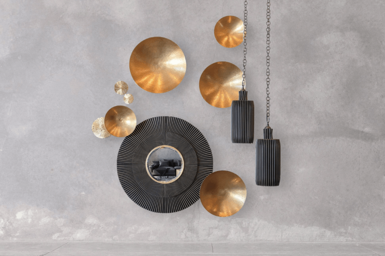 Twisted Torch Pendants & Mirror