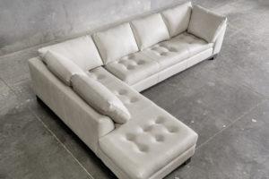white leather coach